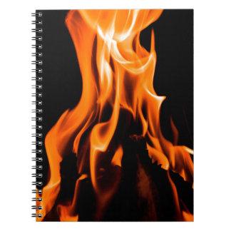 抽象的な火 ノートブック
