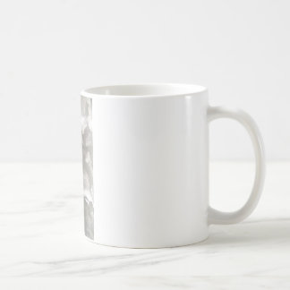 抽象的な灰色およびホワイトメタル コーヒーマグカップ