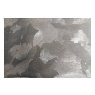 抽象的な灰色およびホワイトメタル ランチョンマット