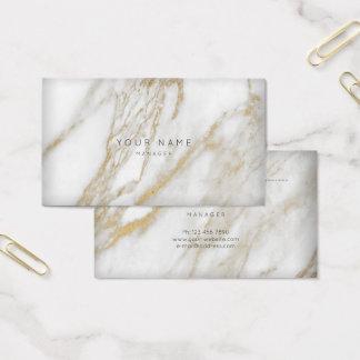 抽象的な灰色の大理石のアポイントメントカードの金ゴールド 名刺