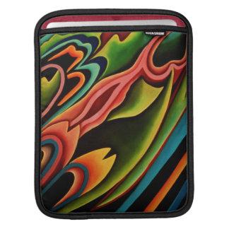 抽象的な熱帯人力車のiPadの袖 iPadスリーブ