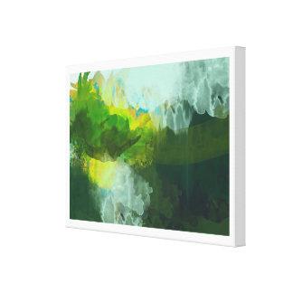 抽象的な熱帯風景画 キャンバスプリント