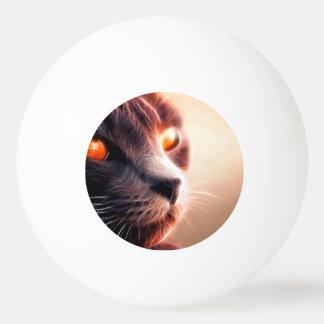抽象的な猫ペット 卓球ボール