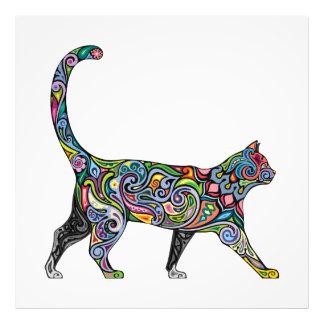 抽象的な猫 フォトプリント