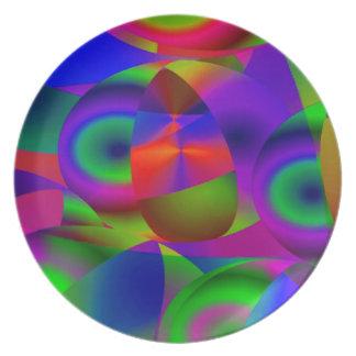 抽象的な球 プレート