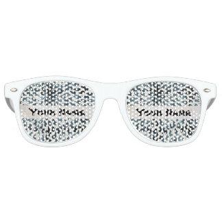 抽象的な白黒 レトロサングラス