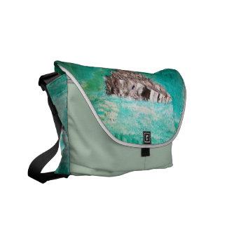 抽象的な石 メッセンジャーバッグ