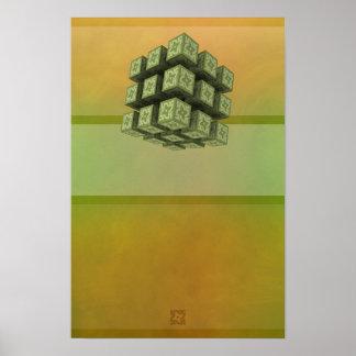 抽象的な磁気04モダンな01: 初心者の心 ポスター