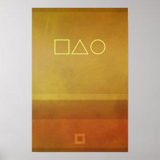 抽象的な磁気05 -モダンな-01 ポスター