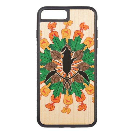 抽象的な秋の収穫のコラージュ CARVED iPhone 7 PLUS ケース