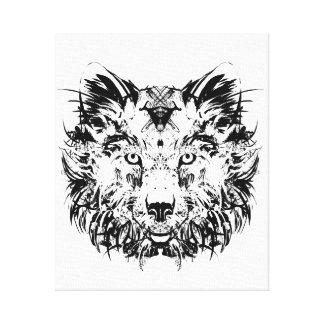 抽象的な種族のオオカミのキャンバスのプリント キャンバスプリント