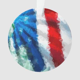 抽象的な米国旗か西部か円のオーナメント オーナメント