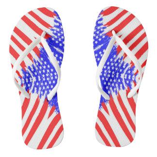 抽象的な米国旗-ビーチサンダル ビーチサンダル