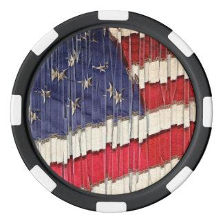 抽象的な米国旗 ポーカーチップ