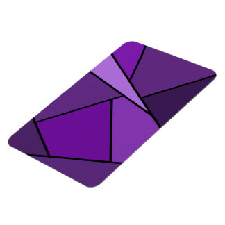 抽象的な紫色の多角形 マグネット