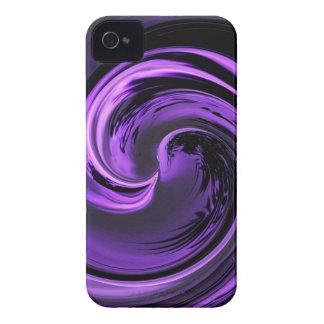 抽象的な紫色の島の波のブラックベリーのはっきりしたな箱 Case-Mate iPhone 4 ケース
