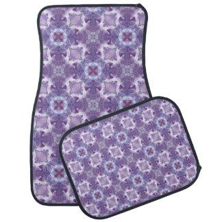 抽象的な紫色の蘭パターン カーマット