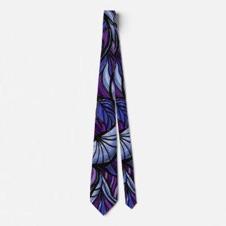 抽象的な紫色の蝶翼パターンタイ ネクタイ