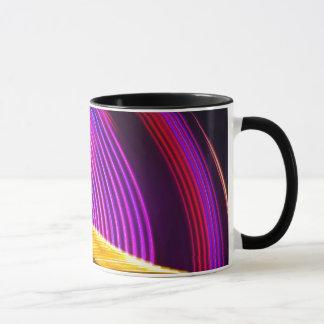 抽象的な紫色の黄色く赤いおよび緑色航法燈 マグカップ