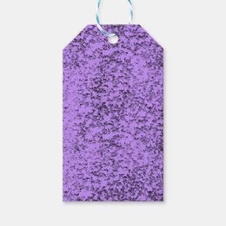 抽象的な紫色 ギフトタグ