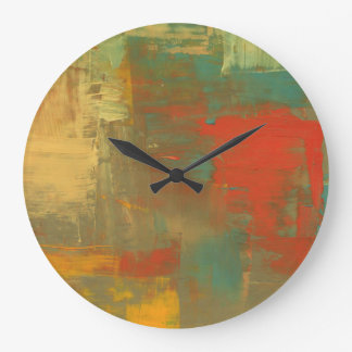 抽象的な絵画の柱時計のキャンバスの芸術 ラージ壁時計