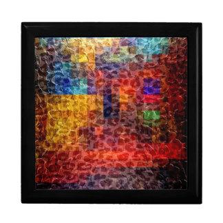 抽象的な絵画都市ライト ギフトボックス