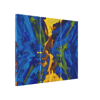 抽象的な絵画 の抽象美術9 キャンバスプリント