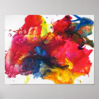 抽象的な絵画 ポスター