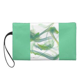 抽象的な緑およびターコイズのデジタル白鳥のリストレット リストレット