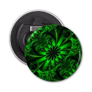 抽象的な緑のフラクタルのジャングル 栓抜き