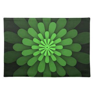 抽象的な緑のランチョンマット ランチョンマット