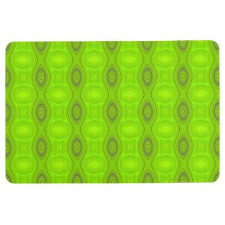 抽象的な緑のレトロのモダン フロアマット