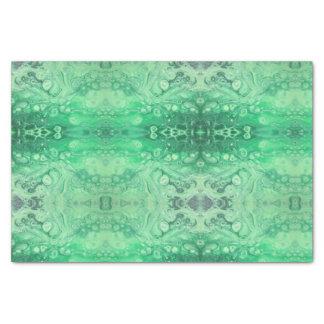抽象的な緑の宝石の調子のkaliedoscopeの泡 薄葉紙