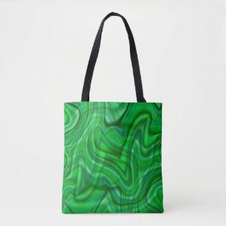 抽象的な緑の渦巻のデザイン トートバッグ