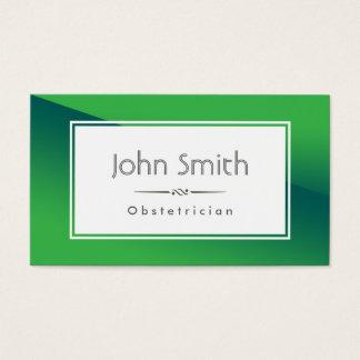 抽象的な緑の産科医の名刺 名刺