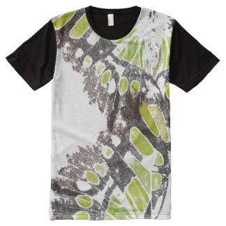 抽象的な緑のButterlyの翼のTシャツ オールオーバープリントT シャツ