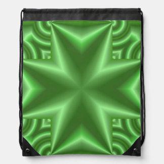 抽象的な緑パターン ナップサック
