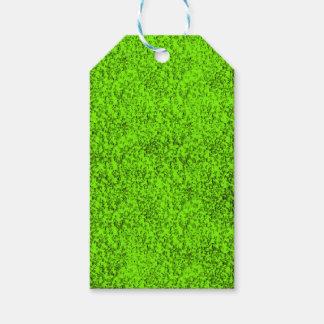 抽象的な緑 ギフトタグ