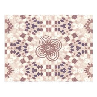 抽象的な織物のデザイン ポストカード