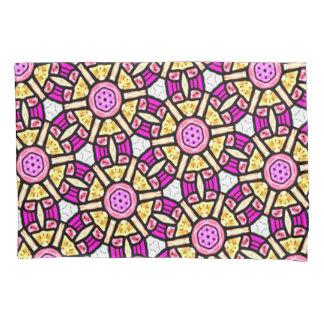 抽象的な背景の紫色および金ゴールドのステンドグラス 枕カバー
