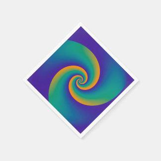 抽象的な背景は柔らかいV螺線形になります スタンダードカクテルナプキン