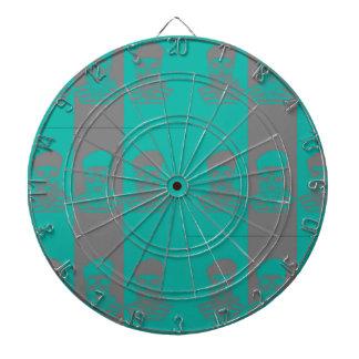 抽象的な船員のスカルの金属のおりのダート盤 ダーツボード