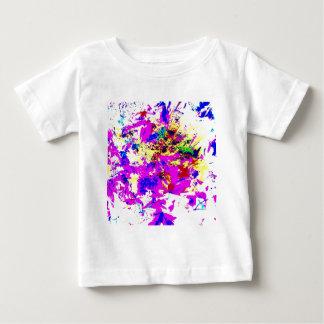 抽象的な色のしぶき ベビーTシャツ