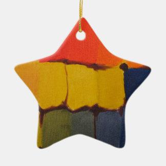 抽象的な色のブロック01 セラミックオーナメント