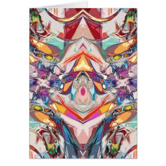 抽象的な色の組合せ カード