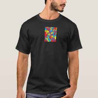 抽象的な色の製本所のティー Tシャツ