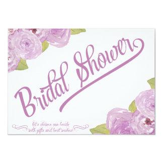 抽象的な花のブライダルシャワーの招待状 カード