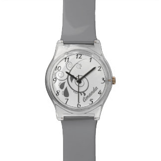 抽象的な花の名前をカスタムするの腕時計 腕時計