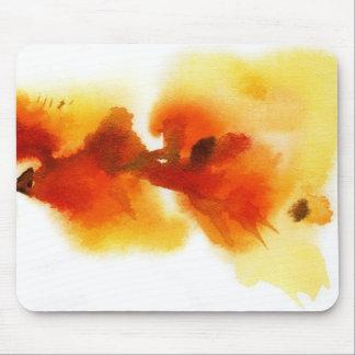 抽象的な花の水彩画の絵画2 マウスパッド