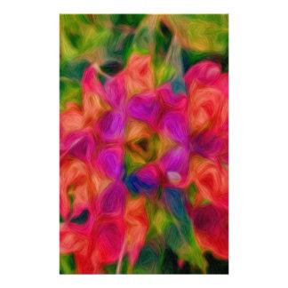抽象的な花の渦巻 便箋